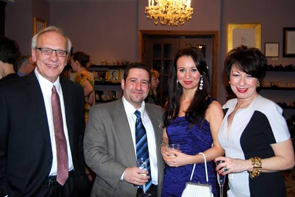Dennis Gregor, Leonard Mogul with Guest, Debbie Chanel