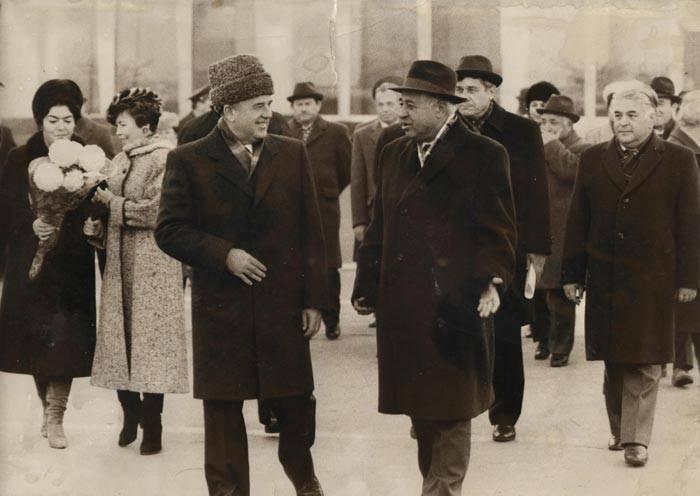 Генсек ЦК КПСС М.С.Горбачев в Ташкенте