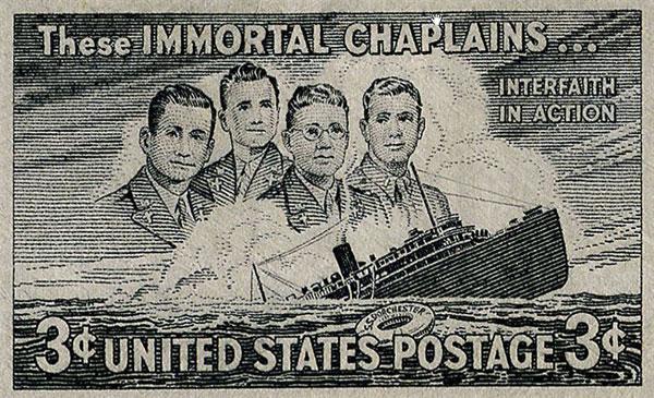 Марка почты США в честь капелланов.
