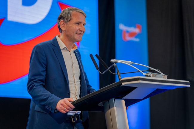 Один из лидеров Альтернативы для Германии, руководитель земельной партийной организацией в Тюрингии Бьёрн Хёке.Photo copyright: Björn Höcke